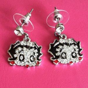 Betty Boop Crystal Earrings